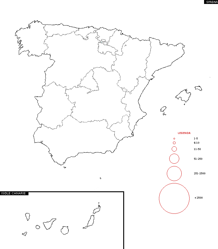 Distribuzione del cognome - Mappa dei cognomi Spagna 43c9910a5e9